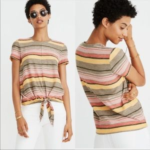Madewell Texture & Thread Tie Front Tee